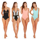 Boutique Womens Scoop Neck Swimsuit Ladies Low Back One Piece Swimming Costume