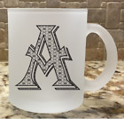 Frosted Glass Coffee Tea Mug Cup 10oz Monogram Personalized Letter Alphabet A-Z