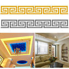 10pcs Modern Maze 3d Mirror Style Acrylic Wall Sticker Decor Decal Home Room Diy