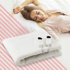 Twin Full Queen Size Electric White Blanket Soft Dual Control 5 Mode Temperature image