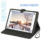 "Universal Folio 360° Rotating Case PU Leather Stand Cover for 10"" Tablet"