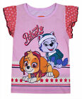 Girls Paw Patrol T-shirt Kids New 100% Cotton Top Tee Pink Age 2 3 4 5 6 Years