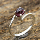 Oval Red Garnet Gemstone 925 Sterling Silver Solid Designer Ring Size Choose