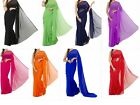 Georgette Plain Saree Blouse Indian Bollywood Party Wear Curtain Drape Dress