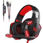 3.5mm Wired Gaming Headset Mic LED Stereo Headphones For PC Laptop PS4 Xbox One