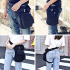 US Mens Canvas Racing Drop Leg Bag Fanny Motorcycle Rider Belt Waist Bag 8SEASON