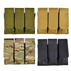 Triple Molle Pals 9mm 45 Pistol MAG Magazine Pouch Ammo Holster Standard Nylon