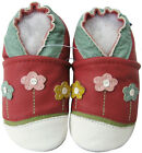 carozoo little flower red outdoor rubber sole leather shoes up to 4 years old