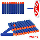 20~200 Refill Bullet Darts Nerf N-strike Elite Series Blasters Soft Toy Gun Blue