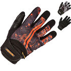 Spada Burnout Leather Motorcycle Gloves Summer Bike Motorbike Soft Armour Vented
