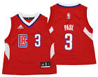 Adidas NBA Toddlers Los Angeles Clippers Chris Paul #3 Away Replica Jersey, Red