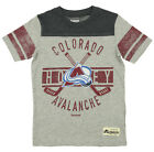 "Reebok NHL Youth Colorado Avalanche ""Lineage"" Short Sleeve Slub Tee, Gray $9.99 USD on eBay"