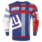 Forever Collectibles NFL Men's New York Giants Plaid Crew Neck Sweater $39.99 USD on eBay