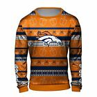 Forever Collectibles NFL Men's Denver Broncos Hanukkah Ugly Crew Neck Sweater $44.99 USD on eBay
