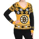Forever Collectibles NHL Women's Boston Bruins 2016 Ugly V-Neck Sweater $37.95 USD on eBay