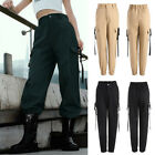Women Casual Cargo Trousers Pants Solid  Loose Long Sports Pants With Buckle