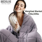 Bedsure Weighted Blanket Adult Sensory Anxiety 100% Cotton Blanket 15lbs 20lbs image