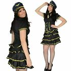 Ladies fancy dress sexy party airline pilot girl Size 10 12 14 Large XL