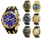Invicta Men's Pro Diver Chrono 100m Stainless Steel/Black Silicone Watch image