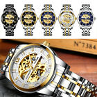 TEVISE Business Men Automatic Mechanical Stainless Steel Calendar Military Watch