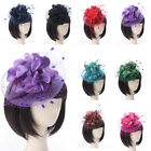 Внешний вид - Vintage Women Lace Feather Mini Top Hat Fascinator Fancy Party Flower Hair Clip
