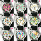 Mens Womens Unisex Causal Quartz Watch Fruit Pineapple Pattern Wrist Watches