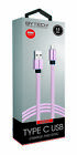 Bytech 3.5ft Flat Fabric Type C USB Cable Assistant (for Charging and Syncing)