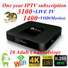 TX3 Mini TV Box S905W 4K 1G+8G WiFi Android7.1+1 Year IPTV Service Adult Channel