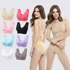 M-XXL Front Cross Side Buckle Wireless Lace Bra Breathable for Women Sport Yoga