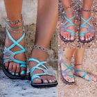 Boho Ladies Summer Flat Flip Flops Sandals Girl Bandages Casual Beach Shoes GIFT