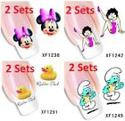 2 Sets Mickey Betty Boop Smurf Duck Water Slide Transfer Nail Decal Sticker $3.07 USD on eBay
