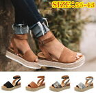 Lady Summer Platform Sandals Buckle Strap Casual Open Toe Fish Mouth  Shoes