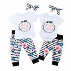 Внешний вид - Matching Kids Baby Girl Big Little Sister Tops Shorts Floral Pant Outfits