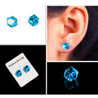 1Pair crystal weight loss magnetic earrings health magnets non-pierced  ear stud