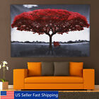 Large Red Love Tree Canvas Print Painting Picture Art Wall Home Decor Unframed