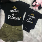 Kyпить US Family Mom Baby Girls Matching Outfits Queen Tops Princess Romper Clothes на еВаy.соm