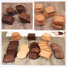 Retro Wood Heat Insulation Tea Coasters Cup Mat Pad Coffee Hot Drink Placemat QL