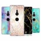 HEAD CASE DESIGNS GLITTERY MARBLE PRINTS SOFT GEL CASE FOR SONY PHONES 1