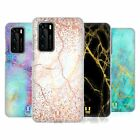 HEAD CASE DESIGNS GLITTERY MARBLE PRINTS HARD BACK CASE FOR HUAWEI PHONES 1