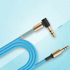 Hot 3.5mm Male to Male Aux Cable Cord L Right Angle Car Audio Headphone Jack 1M