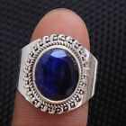 Faceted Blue Sapphire Designer Ring 925 Sterling Silver jewelry Choose Size 6-12