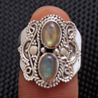 Oval Shape Labradorite Gemstone Ring 925 Sterling Silver Ring Choose Size