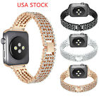 US Shine Diamond Watch Band for Apple Watch Series 4 3 2 1 Bracelet Bling Strap image