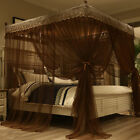 Home Bed Mosquito Nets Layer Canopy Set Curtain Frames Wedding Bed Decoration image