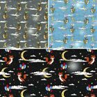 100 cotton poplin fabric rose hubble flying foxes with balloons in sky