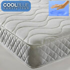 Cool Blue Mattress Open Coil Spring Single Double Roll Up Memory Foam Mattress