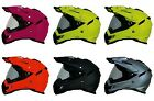 AFX Adult FX-41DS Solid Full Face Motorcycle Helmet Dual Sport Dirt Bike DOT ECE