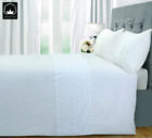 100%Cotton Embroidery Vintage Duvet Cover King White Bedding Set Qulit Bed Cover image