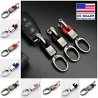 Kyпить Hand Woven Horseshoe Buckle Car Keychain Keyring Auto Car Key Rings Holder Clip на еВаy.соm
