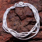 """Solid Silver Link Unisex Necklace chain 925 Sterling Silver jewelry 18, 20,22"""""""